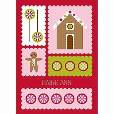 gingerbread kids thank you card christmas cards thank you cards from kids holiday cards