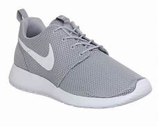 nike roshe run wolf grey white unisex sports