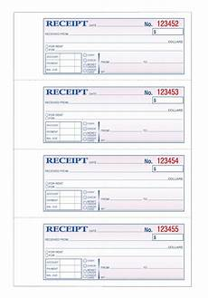tops money receipt book 3 part carbonless 4 pg 100 st bk