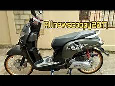 Scoopy Modifikasi Simple by All New Scoopy 2017 Modif Stylish Cocok Buat Yang Hobby