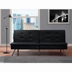 leather futon chelsea faux leather futon sofabed black walmart