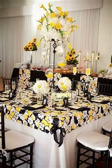 Wedding Reception White Yellow
