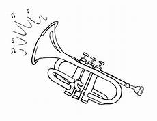 trumpet coloring page at getcolorings free printable