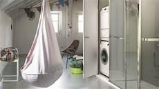 installer lave linge dans la salle de bains buanderie