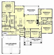4 bedroom country house plans clairmont country house plan flip 1 2 bath to open to
