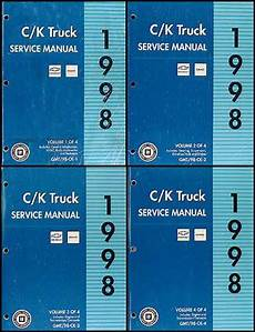 auto repair manual free download 1998 chevrolet suburban 1500 navigation system 1998 c k 1500 3500 repair shop manual set pickup suburban tahoe yukon
