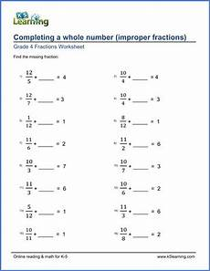4th grade math worksheet adding and subtracting fractions grade 4 fractions worksheets completing a whole number