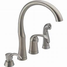 high arc kitchen faucet shop delta stainless 1 handle high arc kitchen faucet with