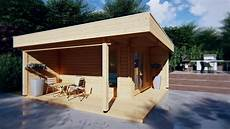 modernes gartenhaus mit terrasse hansa lounge 12m 178