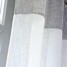 voilage tamisant tendance blanc et gris l 140 x h 240