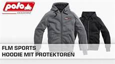 Motorrad Hoodie Mit Protektoren - flm sports hoodie mit protektoren