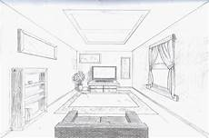 Fluchtpunkt Zeichnen Zimmer - room in perspective single point perspective room by a