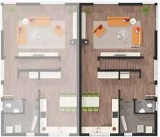 Moderne Doppelhäuser Grundrisse - das doppelhaus aura 136 style grundriss erdgeschoss