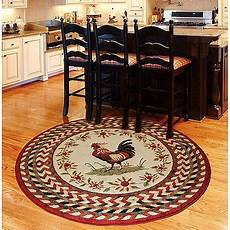 Kitchen Area Rugs Walmart by Orian Rooster Braid Area Rug Walmart