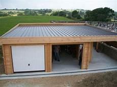 toit plat végétalisé garage toit plat avec buch 233 kont 233 nerh 225 zak gar 225 zs 233 s