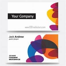 colorful name card template free colorful business card templates by 123freevectors on