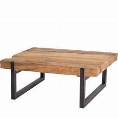 table basse pied metal table basse pied metal plateau teck massif recycl 233