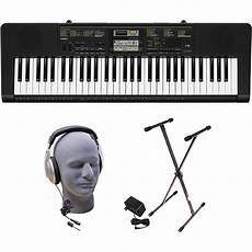 casio ctk2400 61 key portable keyboard casio ctk2400 ppk 61 key portable keyboard package with samson hp30 headphones stand and power