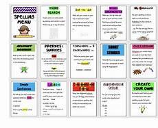 spelling matrix worksheets 22471 pin by merran woodard on teaching ideas spelling menu aw words spelling activities