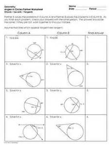 geometry worksheets circles high school 653 circles segments arcs chords angles and more geometry circle theorems geometry lessons