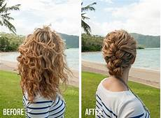 hairstyles after braids new video tutorial tucked braid updo in curly hair hair