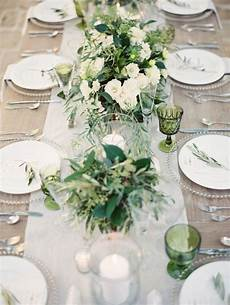 picture of romantic organic inspired white and green wedding ideas 2