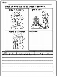 picture composition worksheets for kindergarten 22758 winter writing prompts for kindergarten and grade by s