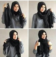 Model Dan Style Cara Memakai Jilbab Monochrome Modern