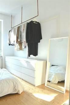 Kleiderschrank Offen Selber Bauen - kleiderstange ideen bilder offene garderobe