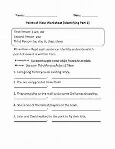 grammar worksheets consistent point of view 24725 identifying points of view worksheet part 1 reading ideas worksheets language