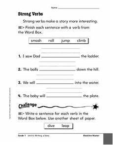 grammar worksheets using strong verbs 24689 strong verbs worksheet for 2nd 3rd grade lesson planet