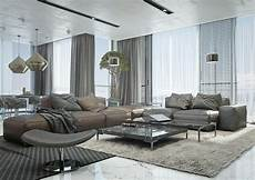 Modernes Wohnzimmer Braun - wohnzimmer ideen mit brauner braun und grau