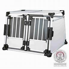 trixie doppel transportbox aus aluminium hundebox autobox