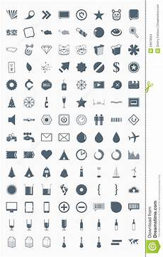 Symbole Mit Bedeutung - set vector icons signs symbols and pictograms stock