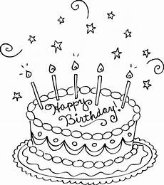 happy birthday cake coloring pages at getcolorings