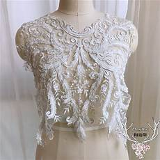 white bead pearls lace embroidery patches sequins lace