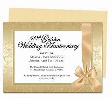 Anniversary Cards Templates Wrapping Anniversary Invitation Template 25th 50th