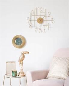 wanduhr aus metall goldfarben d42 timo maisons du monde