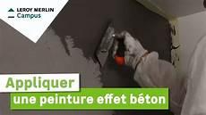 peinture effet beton comment appliquer une peinture effet b 233 ton leroy