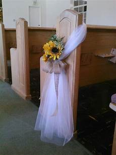 tulle bow pew search church pew wedding decorations church wedding decorations