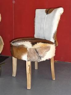 stuhl mit fell sessel stuhl aus teakholz mit echtem ziegen fell bezug