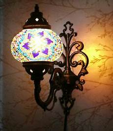 turkish moroccan style mosaic multicolour wall sconce
