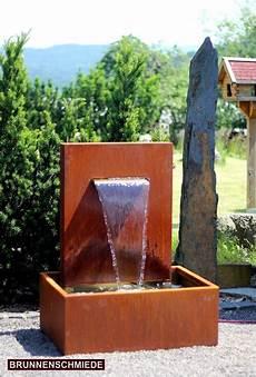 Wasserspiel Cortenstahl Wasserfall L30cm Gartenbrunnen