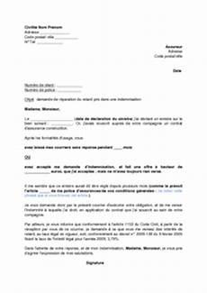 Lettre De Demande D Int 233 R 234 Ts Pour Indemnisation Tardive