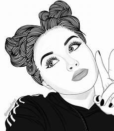 fille dessin noir et blanc coloriage fille dessin noir
