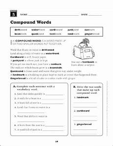 compound words grade 4 vocabulary printable skills sheets