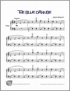 the blue danube easy piano sheet music digital print