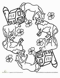 farm animals mandala worksheet education
