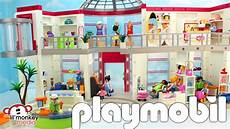 playmobil furnished shopping mall with extension