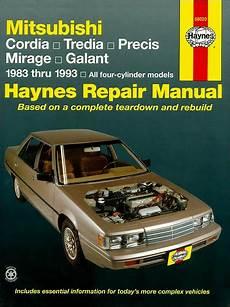 buy car manuals 1987 mitsubishi tredia regenerative braking cordia tredia precis mirage galant repair manual 1983 1993